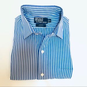 Polo Ralph Lauren Blue & White Stripe Dress Shirt